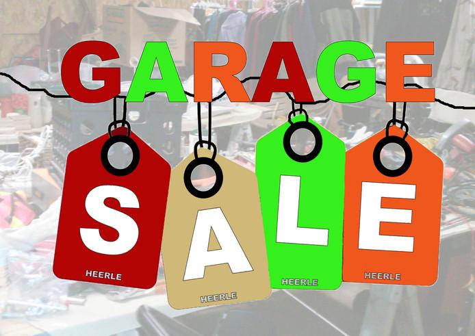 Garage-sale in Heerle.