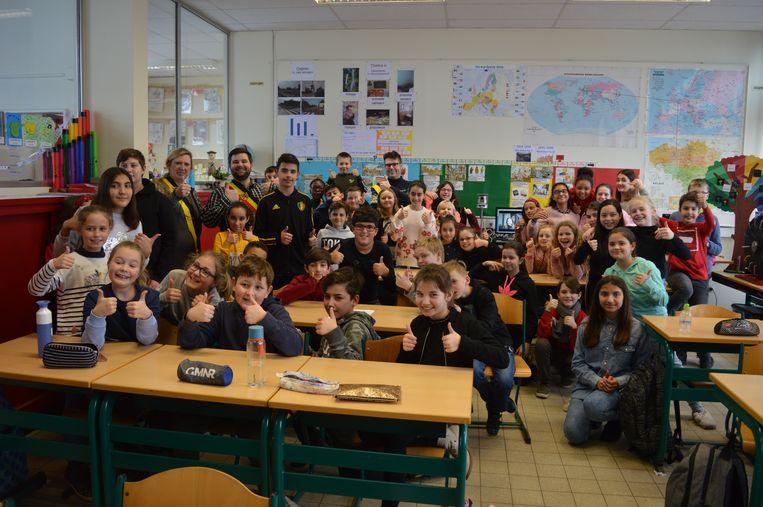 Schepencollege en leerlingen bundelden de dichtkrachten bij De Krekel.