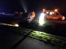 Gewonde bij ongeluk en snelweg A28 enige tijd afgesloten bij Nijkerk