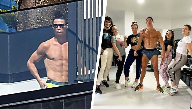 Cristiano Ronaldo op Madeira.