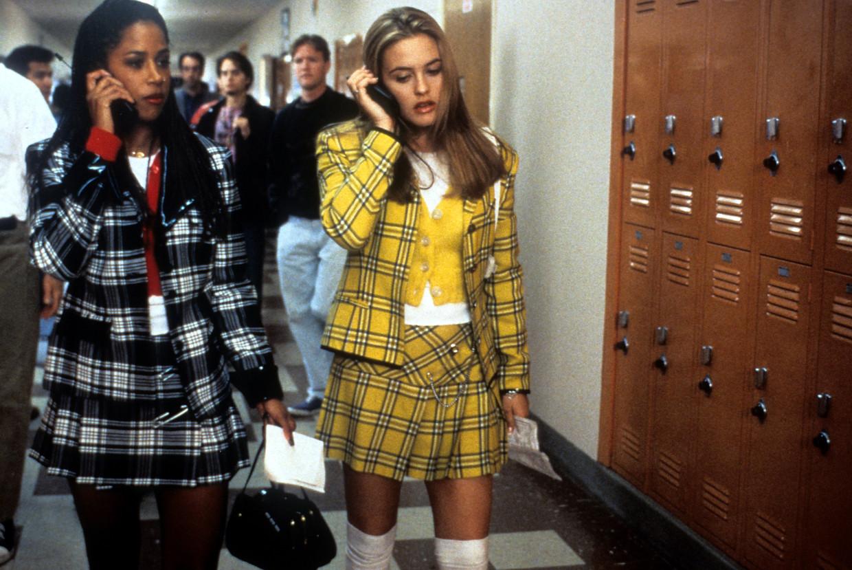 Stacey Dash en Alicia Silverstone met hun iconische geruiten outfits, Clueless, 1995.