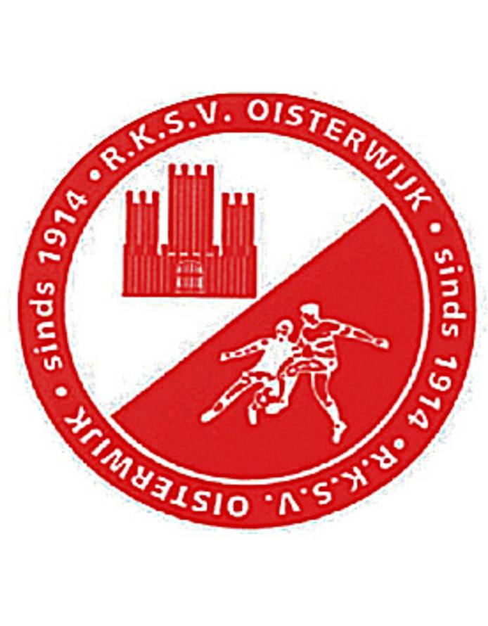Het logo van RKSV Oisterwijk. De club gaat fuseren met SV Nevelo en RKSV Taxandria.