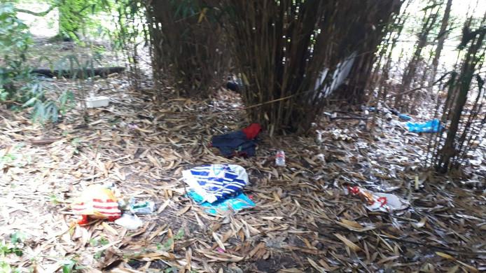 Eerder werden in de omgeving van Kaatsheuvel plekken aangetroffen, waar rommel was achtergelaten.