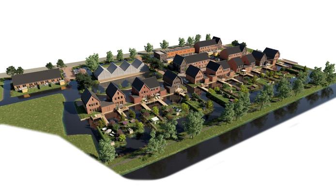 Bolton gaat 38 gasloze woningen bouwen aan de Milandweg in Zegveld waar nu nog de tennisvereniging is gehuisvest.