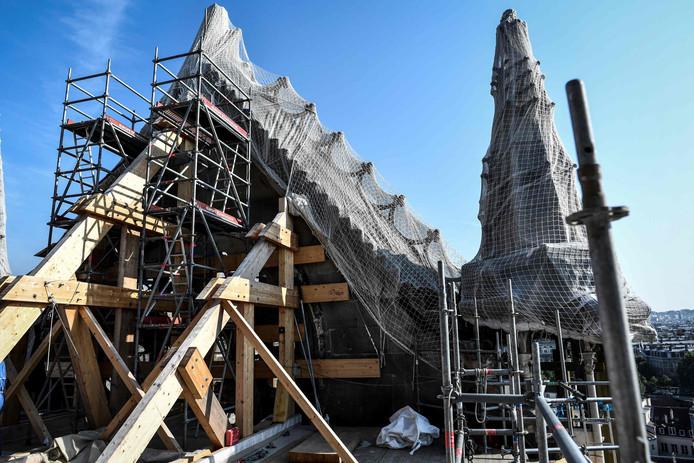 Herstelwerkzaamheden aan de Notre-Dame-de-Paris.