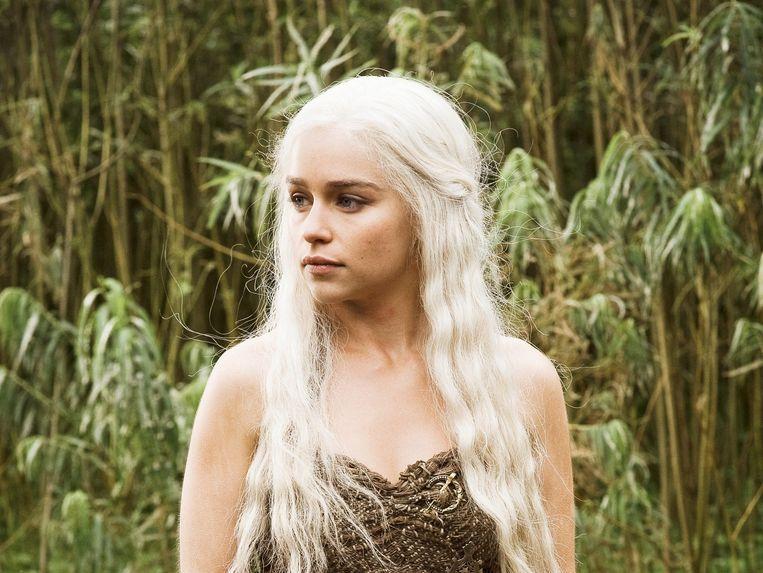 Daenerys Targaryen, gespeeld door Emilia Clarke. Beeld RV
