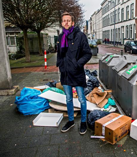 Jaap Stronks biedt petitie tegen troep op straat aan: 'Vaker de afvalcontainers legen'