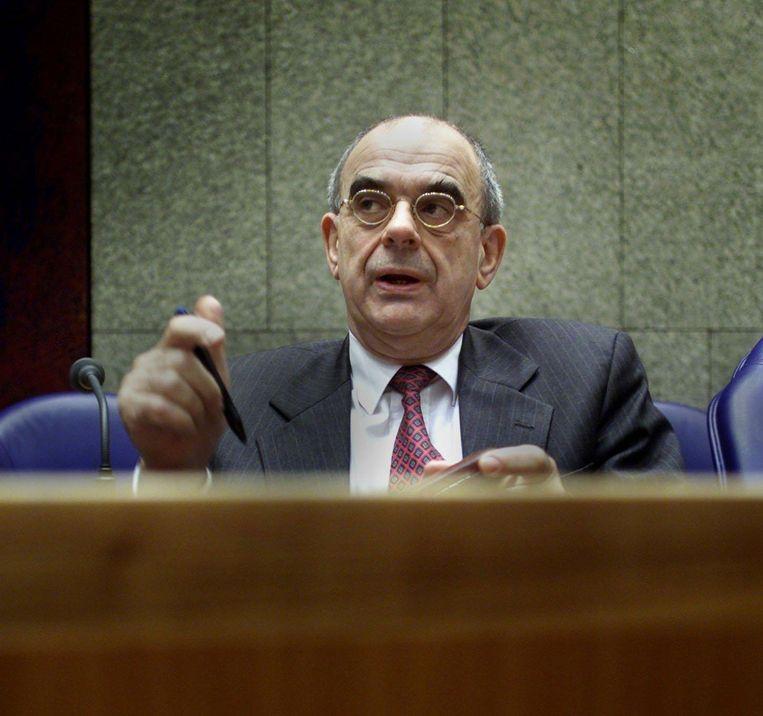 Oud-minister Jan Pronk in de Tweede Kamer, 2001. Beeld ANP