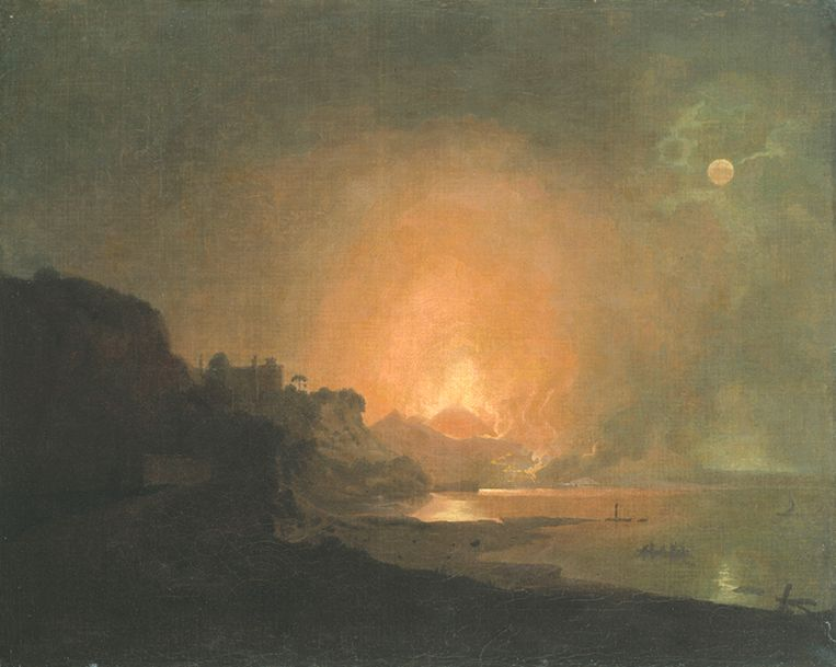 Joseph Wright of Derby, Uitbarsting van de Vesuvius (1790). Beeld Hamburger Kunsthalle