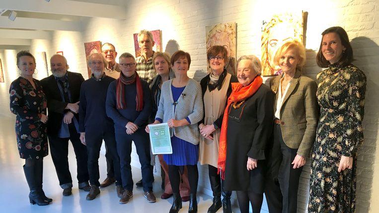 De tentoonstelling werd afgelopen weekend feestelijk geopend in het wzc Henri Vander Stokken.