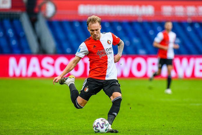 Mark Diemers tijdens het duel met FC Groningen.