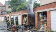 Garagebox in Paardeputstraat brandt uit