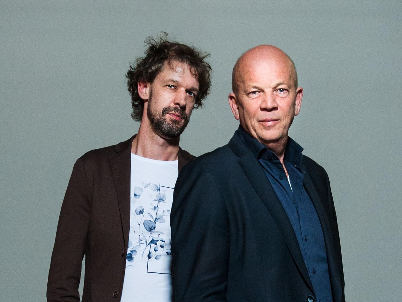 Jan Kleinnijenhuis (L) en Pieter Klein, de Journalisten van het Jaar 2019.