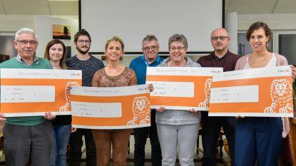Organisatoren Bosmarathon steunen sociale vzw's met dikke cheques
