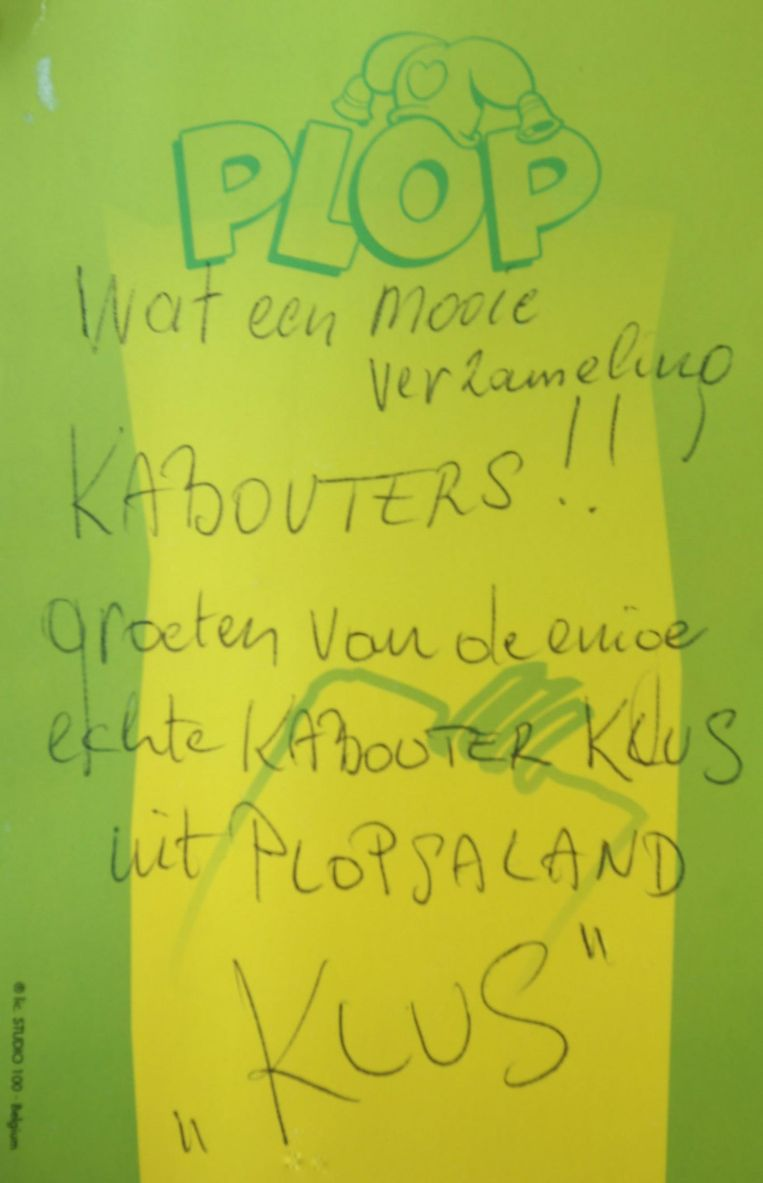 Acteur Aimé Anthoni, alias Kabouter Klus, stak dit briefje in de bus van Marleen.