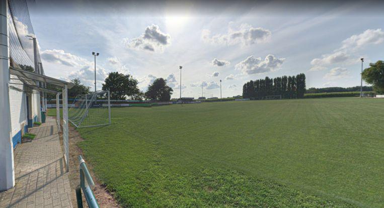 Het voetbalplein van Eendracht Moortsele.