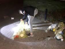 Puinhoop in Veghelse straten door kapot getrapte vuilniszakken, jongen moet alles zelf opruimen