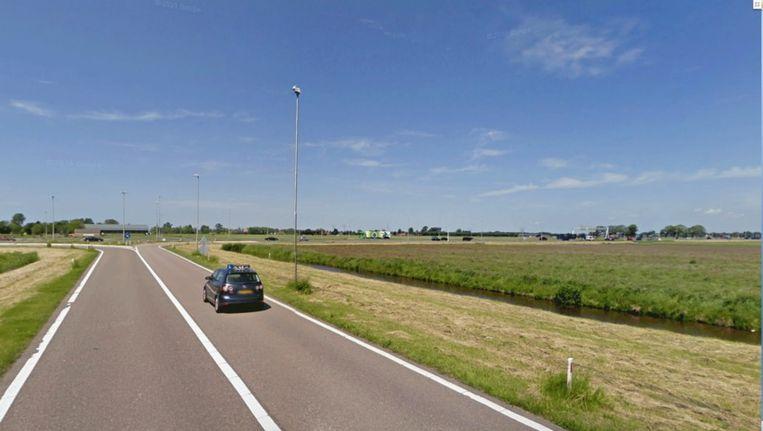 De A7 met rechts afslag Wijdewormer. © GOOGLE STREETVIEW Beeld