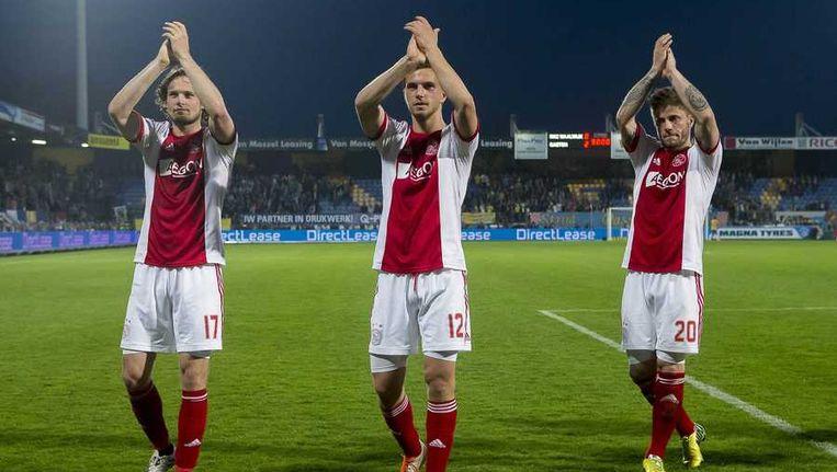 Ajax na de wedstrijd tegen RKC. Beeld anp