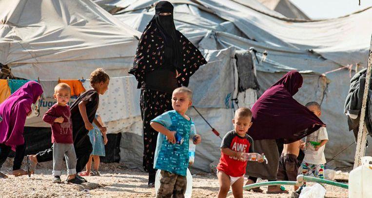 Het kamp Al Hol in Syrië