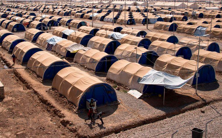 Archieffoto van vluchtelingenkamp van de VN nabij Mosoel.