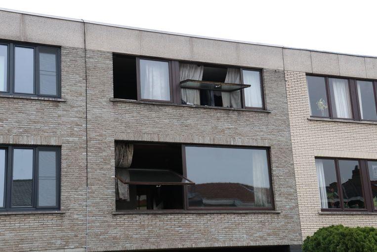 De woning liep heel wat schade op binnenin.