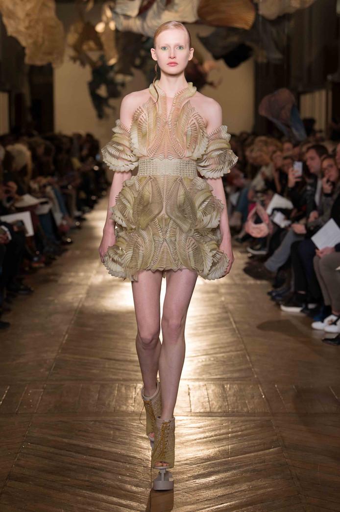 e0a083e6763ed6 Haute Couture ontmoet wetenschap bij ontwerp voor 3D-geprinte jurk ...