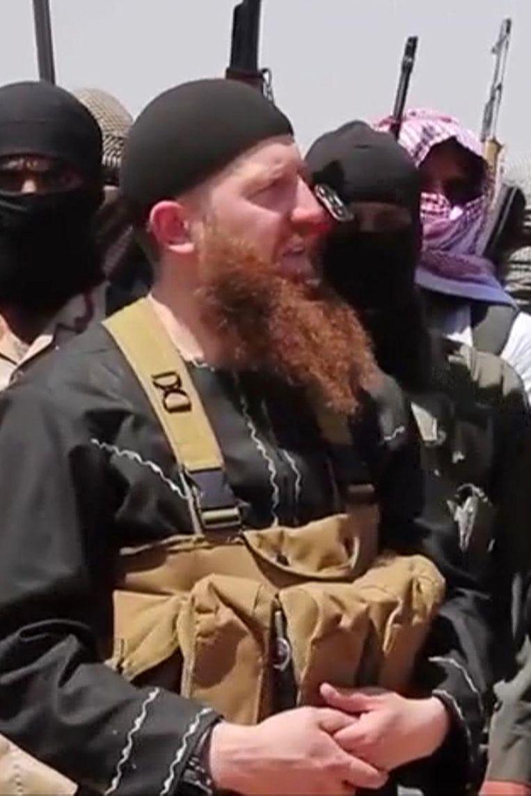IS-commandant Omar al-Shishani. Beeld ap