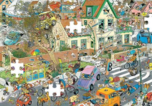 Van Haasteren: 'Als het puzzelen niet uitsterft, dan ben ik vereeuwigd. Daar voel ik niets van, maar ik ben er nu wel trots op.'