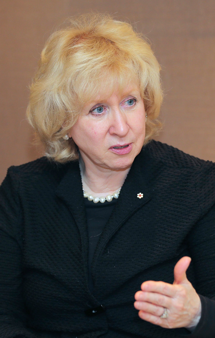 Kim Campbell, een voormalige premier van Canada