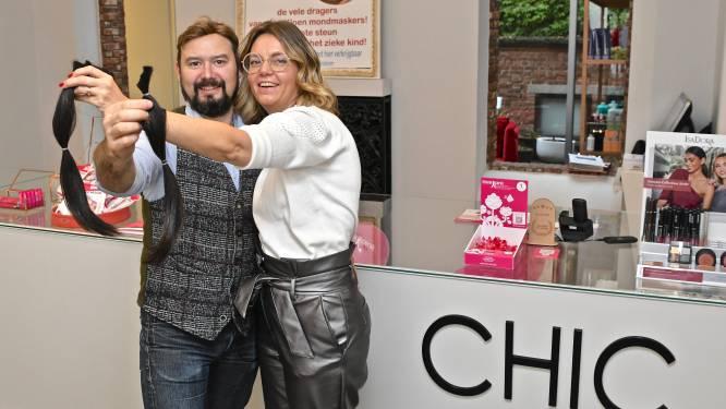 Kapsalon Chic knipt weekend lang paardenstaarten voor Think Pink