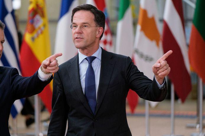 Premier Mark Rutte arriveert in Brussel voor de begrotingstop met de EU-leiders.
