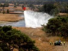 Met Chinook natuurbrand te lijf tijdens grote brandweeroefening in Esbeek