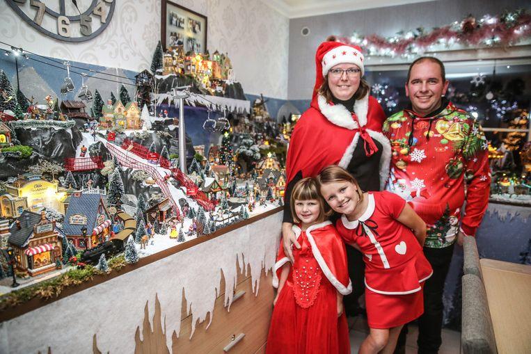 De woonkamer van het Oostakkers Kerstsfeerhuisje
