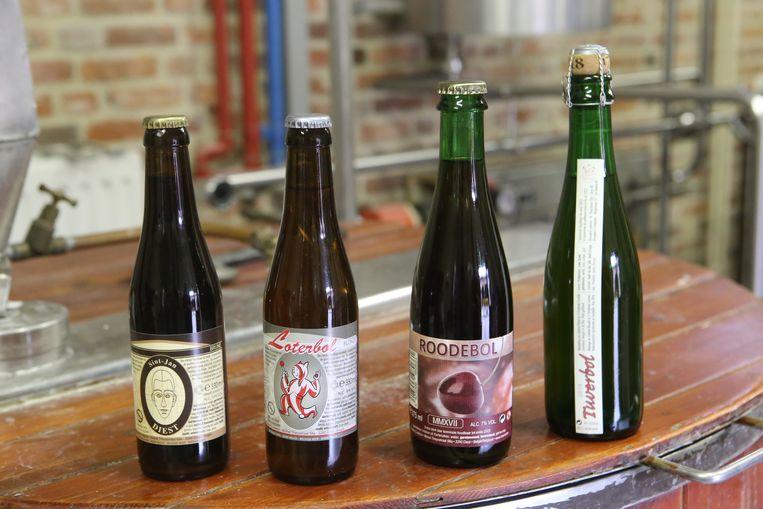 De bieren van brouwerij de Loterbol.