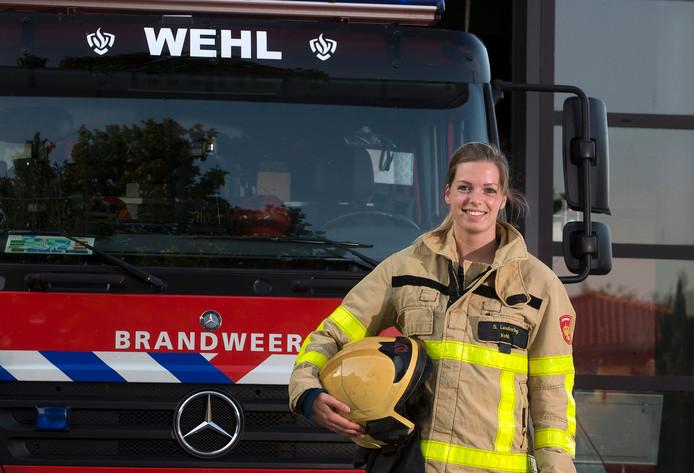 Brandweervrouw Sylmi Lendering.