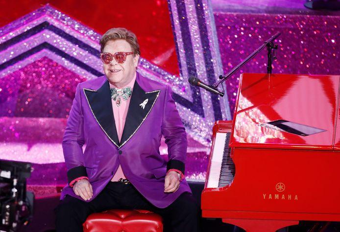 Elton John tijdens de Academy Awards vorige maand.