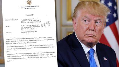 Dit is wat lijfarts van president Trump schreef over hydroxychloroquine en waarom president het neemt