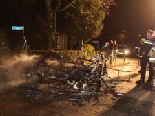Brandende caravan jaagt inwoners Waardenburg stuipen op het lijf