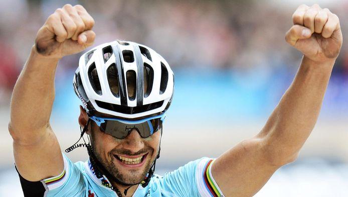Zo won Tom zijn vierde Roubaix, in 2012. Neen, dat is geen vraag in de quiz ;-)