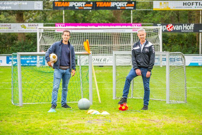 Bert Gotink (rechts) en Tom Kleissen  zijn twee van de organisatoren van de sportdag Onbeperkt Sportief.