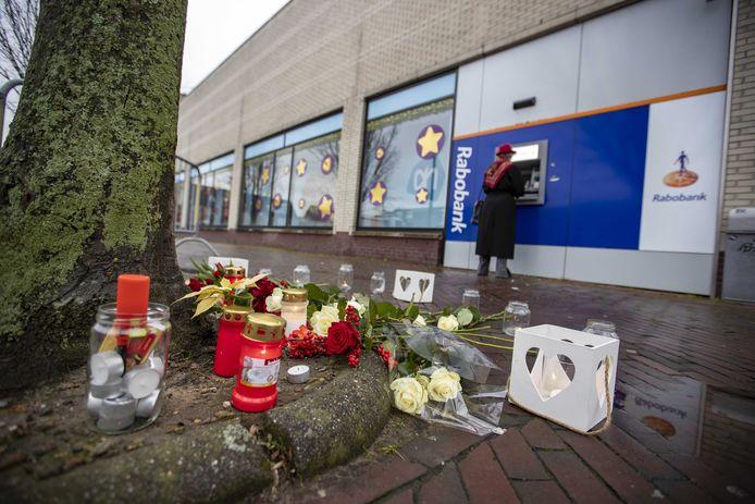 De pinautomaat waar de overval plaatsvond.