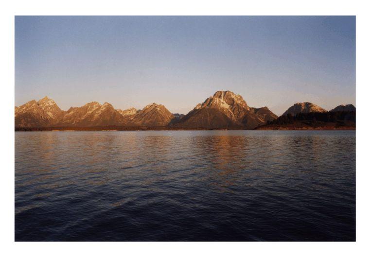filmstill uit 13 Lakes van James Benning, 2004. Beeld James Benning