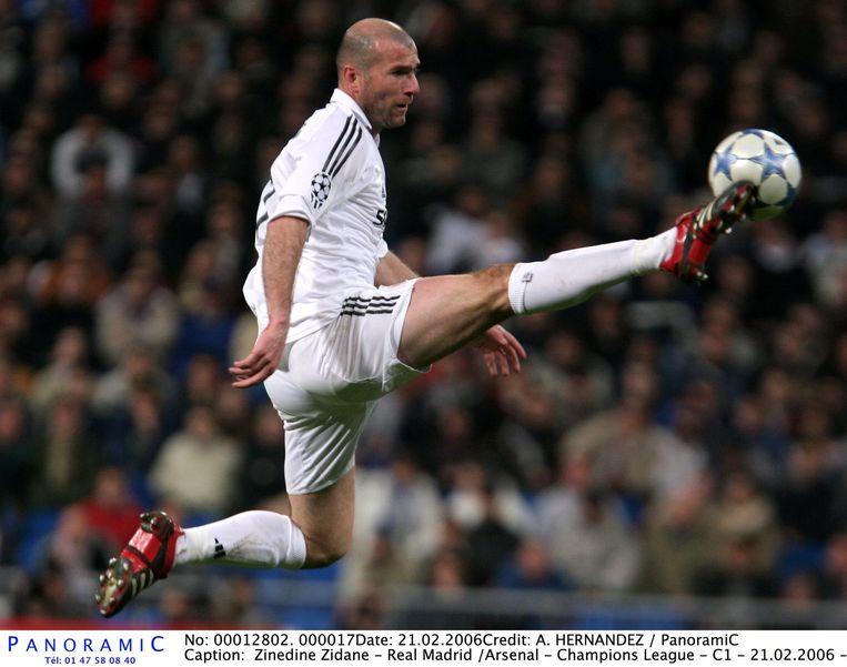 Zinédine Zidane. 'Held van mijn jeugd. Zijn stijl is niet met anderen te vergelijken.' Beeld BrunoPress/Panoramic