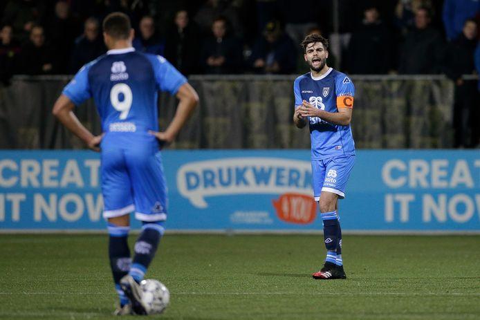 Robin Pröpper tijdens het duel met VVV-Venlo.