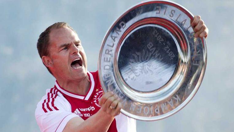 Frank de Boer veroverde dit seizoen voor de derde keer op rij de Nederlandse titel met Ajax. Beeld anp