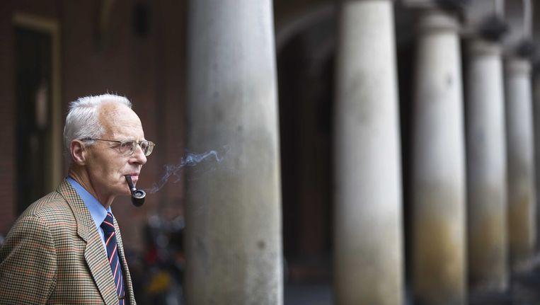 Oud-Senator Gerrit Holdijk van de SGP. Hij overleed afgelopen nacht op 71-jarige leeftijd. Beeld ANP