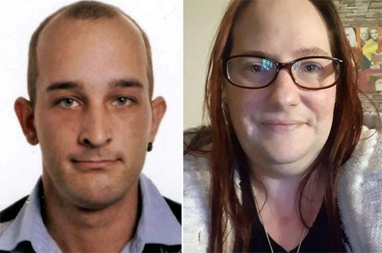 Het opsporingsbericht voor Sandra Paermentier (40) en Stephen Clement (27). Ze zijn niet meer gezien sinds begin december vorig jaar.