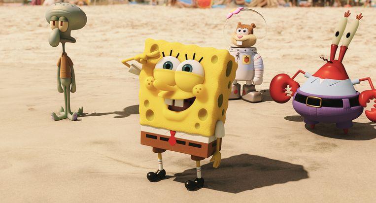 Een sc1ene uit de film The Spongebob Movie: Sponge Out of Water. Beeld AP