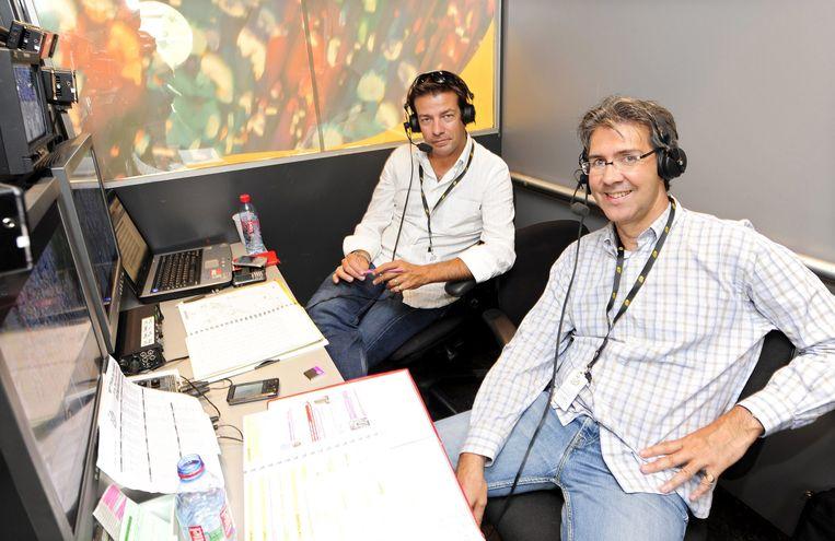 Rodrigo Beenkens (rechts) tijdens de Tour van 2009 (archieffoto).